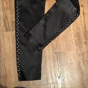 Pants - 🎁Tristan Black Satin Pants w/ Rhinestone detail🌲